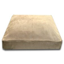Rectangle Bed with Easy-Wash Cover in Camel Suede