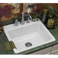 "Advantage Series 25"" x 22"" Hopkinton Single Bowl Self Rimming Kitchen Sink"
