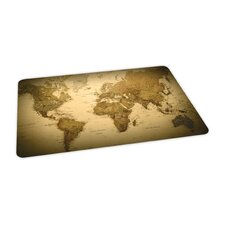 World Map Design Chair Mat
