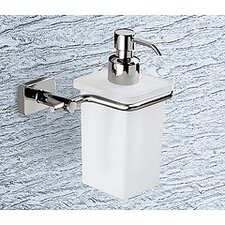 Minnesota Frosted Glass Soap Dispenser with Chrome Holder