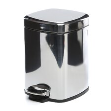 Argenta Square Pedal Waste Bin in Stainless Steel