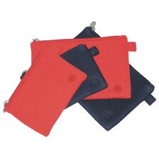 Lea Techno Pouches in Tomato