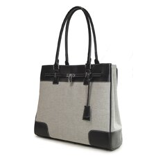 Women's Madison Laptop Tote in Two-Tone Canvas