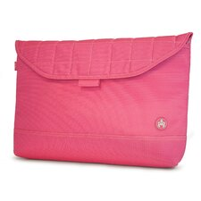 "SUMO 17"" Nylon Sleeve in Pink with White Stitching"