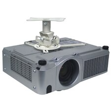 Low Profile Ceiling Projector Mount in White