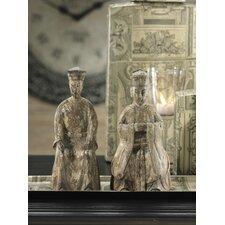 Ancient Chinese Emperor and Empress Statue (Set of 2)