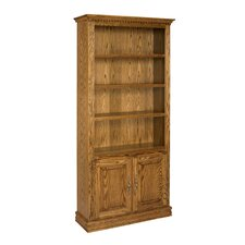 "Britania 72"" Oak Bookcase with Doors"