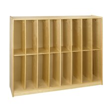 Cubbie 16 Bay Twin Locker in Natural