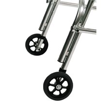 Rear Legs Silent Wheels for Large Walker with Built in Seat (Set of 2)