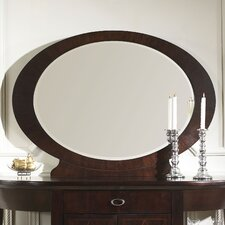 Crossroads Mirror in Rich Cherry
