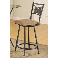 Metal Bar Stool with Slate Stone Accents (Set of 2)