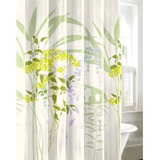 City Scene Cotton Mixed Floral Shower Curtain