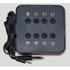 Eight Position Socket Mono Jack Box in Black