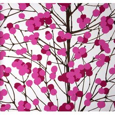 Lumimarja Wallpaper in Pink and White by Erja Hirvi