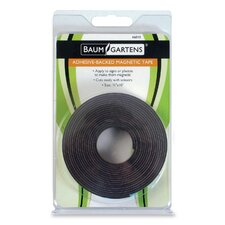 "Adhesive Magnetic Tape, Flexible, 1/2""x10', Black"