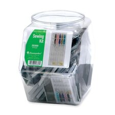Sewing Kits, w/ Plastic Case, 36 per Set, Clear Case