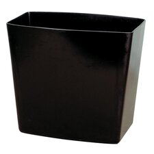 "Waste Container, 20 qt. Capacity, 13-3/4""x8-3/8""x12-1/2"", Black"