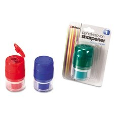 Twin Pencil/Crayon Sharpener with Cap