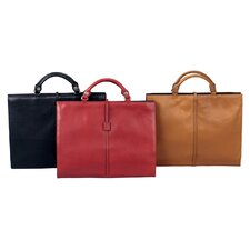 Ladies Leather Briefcase with Interchangeable Handle and Straps