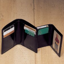 High Polished Cowhide Aniline Leather Two Fold Wallet