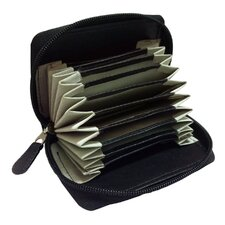 Cowhide Napa Leather Zip-Around Card Holder