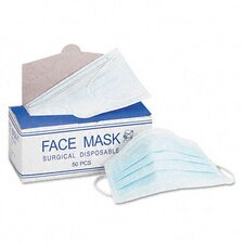 Face Mask, Elastic Ear Loop, 50 Face Masks/Box