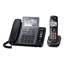 DECT 6.0 Two-Line Cordless Phone System with Answering Machine