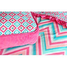 Ikat Girl Square Pillow