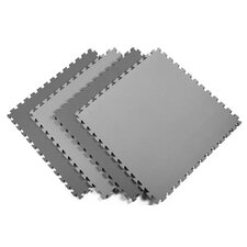 Recyclamat Reversible Foam Mats in Black / Gray (Pack of 4)