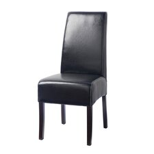Hudson Leather Dining Chair in Black