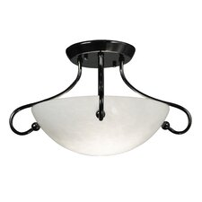 Simplicity 2 Light Semi Flush Mount