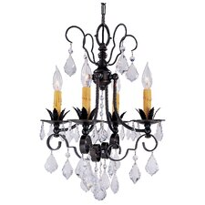 Vintage 4 Light Mini Chandelier