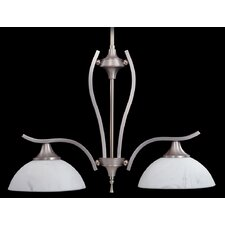 Solstice Two Light Island Chandelier in Satin Pewter / Polished Nickel