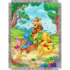 Entertainment Tapestry Throw Blanket - Pooh - Sweet Summer Day