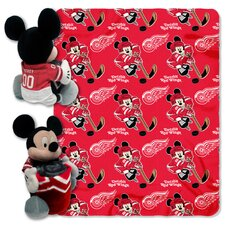 NHL Mickey Mouse Fleece Throw