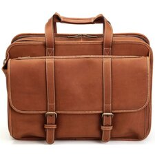 Adventure Expandable Computer Brief/Overnighter in Brown