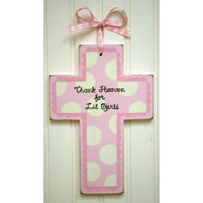 Wooden Cross in Pink