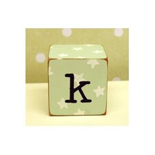 """k"" Letter Block in Green"