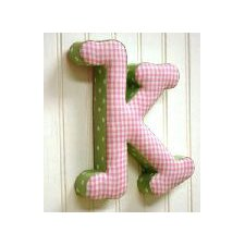 """k"" Fabric Letter in Pink / Green"