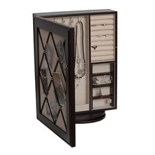 Royale Revolving Mirrored Jewelry Case