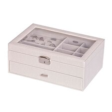 Colette Glass Top Locking Jewelry Box