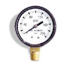 "0-100 PSI, 0.13"" Bottom Pressure Gauge"