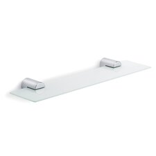 Duo Polished Wall-Mounted Glass Shelf