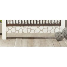 Cobblestone Patterned Crib Skirt
