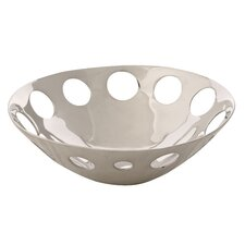 Handmade Decorative Circles Centerpiece in Bright Silver