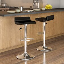 CorLiving Low Back Adjustable Barstool (Set of 2)