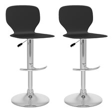 Slim Adjustable Bar Stool (Set of 2)