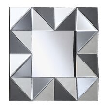 All Glass Square Wall Mirror