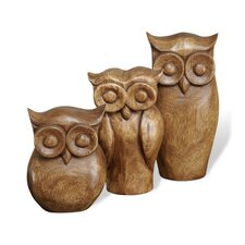 Owl Trio Figurine (Set of 3)