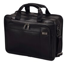 "Architecture® 3.0 Monticello 15.6"" Leather Laptop Brief in Black"
